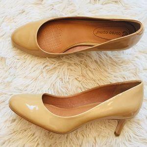 NEW Corso Como Patent Leather Beige Comfort Heel
